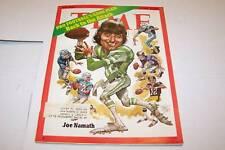 OCT 16 1972 TIME MAGAZINE - JOE NAMATH - NFL FOOTBALL