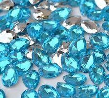Punto De acrílico de coser apliques coser Pedrería Piedras Cristales gota Strass