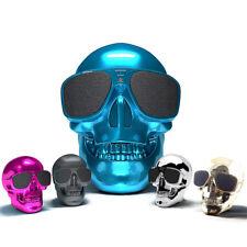 Portable Skull Metallic Wireless Shape Bluetooth Subwoofer Mobile Phone Speaker