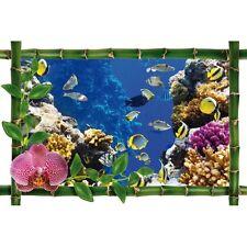 Sticker Bambou déco Aquarium 945