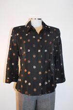 Tuzzi negro Americana 38 Chaqueta en Viscosa chaqueta con bordado elegant