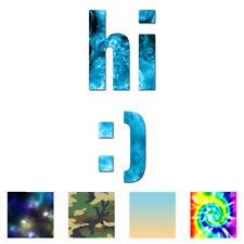 Hi Smiley Face - Vinyl Decal Sticker - Multiple Patterns & Sizes - ebn1612