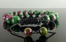 Shamballa Pulseras Con Cuentas De Piedras Preciosas Cristal De Rubí Zoisite 6mm, 8mm, 10mm