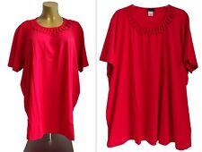 NEU Übergröße schickes Damen Kurzarm Shirt schwarz Glitzersteine Jersey Gr.62