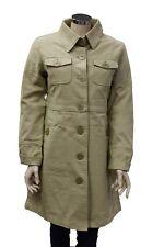 Cappotto da donna beige lungo Quicksilver bottoni manica lunga invernale  moda 9933f4fbbb70