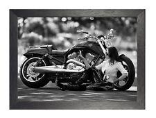Harley Davidson 26 American Motorcycle Póster Foto De Bicicleta De Ruta 66 Impresión De Calidad