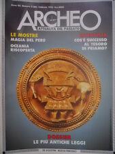 ARCHEO 84 1992 Oceania riscoperta. Dossier: le antiche leggi.Tesoro di Priamo