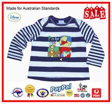 GENUINE AUS LICENSED Baby Boys Pooh Bear & Tigger Emb. Long Sleeve Tee Top-SALE