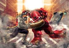Wall Mural Photo Wallpaper Picture Fleece Hulkbuster Marvel Avengers red kids
