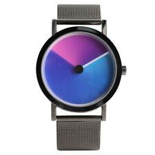 Paidu Turntable Discolour Men Analog Quartz Wrist Watch Stainless Steel Gift