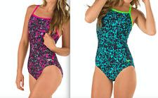 NWT $80 Speedo Fit Endurance Lite Power Clip Back One-Piece Swimsuit Women's
