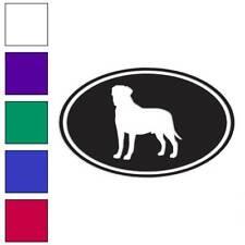 Bull Mastiff Oval Dog Decal Sticker Choose Color + Size #3644