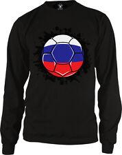 Russian Federation Flag Soccer Ball Futbolu Rossiya Team Rus Goal Men's Thermal