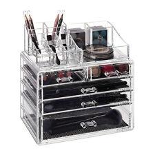 Make Up Organizer mit 5 Schubladen Schmink-Aufbewahrung Lippenstifthalter Acryl