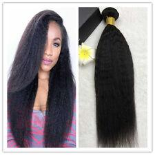 50g/1bundle Yaki Weft Brazilian Kinky Straight Human Hair Extensions Virgin Hair
