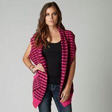 Fox Shifter Cardigan Pink and Purple Stripe S M L $60 Retail NWT D15
