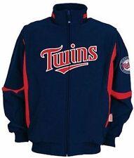 Minnesota Twins MLB Authentic Majestic Navy Therma Base Premier Jacket Big Sizes