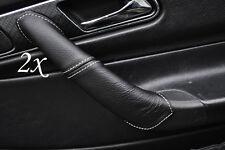 Surpiqûres blanches s' adapte à mercedes slk r170 1996-2003 2x poignée de porte couvre en cuir