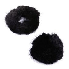 Women Elastic Real Genuine Mink Fur Ponytail Holder Hair Band Rope Scrunchie