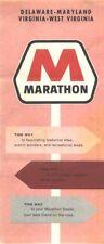 1964 Marathon Delmarva Vintage Road Map
