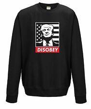 DISOBEY Jumper Sweatshirt JH030 Sweater Anti Fascism President Donald Trump