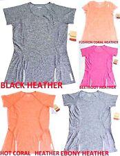 Reebok Women's Slim Athletic Fit T Shirt Medium Gray Orange Red Dry Active New