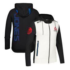 Jon Jones Reebok UFC Fight Kit Full-Zip Official Black Walkout Hoodie