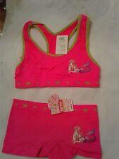 New girls 2 pcs set boyshort AND  training bra  set ...lot of 2 pairs...panties