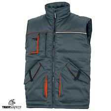 Delta Plus Stockton 2 Grey Orange Padded Multi Pocket Work Vest Gilet Bodywarmer