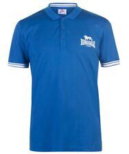 Lonsdale London Camiseta Polo Hombre Azul Blanco