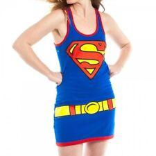 Womens NWT DC Comics Supergirl Superman Shield Juniors Tank Dress Size M L XL