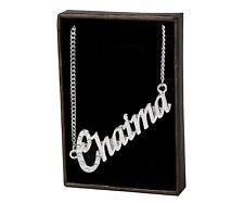 "Name Necklace ""CHAIMA"" –18K Gold Plated   Neckless Pendant Designer Birthday"