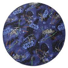 Tapis d'enfants Star Wars rond - couleur: bleu   facile d'entretien et durable