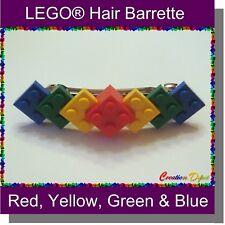 LEGO® Barrette Hair Clip - 2x2 plates - 4 colors