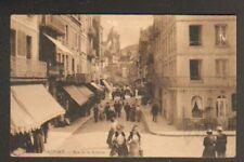 LE TREPORT (76) COMMERCES tres animé en 1906