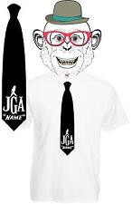 JGA Junggessellenabschied WUNSCHNAME Fun T-Shirt  Krawatte Hochzeit Shirt S410