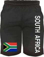 SOUTH AFRICA Bermuda Shorts mit Flagge - schwarz - Gr. M - XXL - südafrika hose