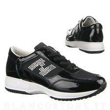 scarpa donna SNEAKERS PASSEGGIO sportive ginnastica STRASS e vernice ZEPPA