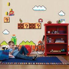 Super Mario Bros Scene Wall Stickers Decal Kids Bedroom Decor Art Mural WC136