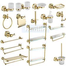 Golden Metal&Jade Bathroom Accessory Towel Rail Rack Soap Dish Holder Toilet