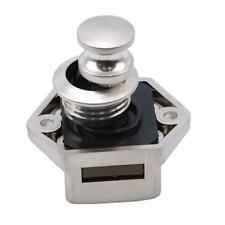 Push Button Drawer Cupboard Door Catch Lock Caravan RV Cabinet Latch Knob SS3