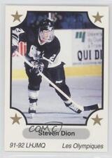 1991 7th Inning Sketch LHJMQ 221 Steven Dion Hull Olympiques (QMJHL) Hockey Card