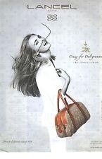 PUBLICITE ADVERTISING 2011  LANCEL sac maroquinerie DALIGRAMME