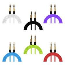 Stereo Audio farbige AUX Klinkenkabel 3,5 mm Klinke Kabel ca. 1m lang
