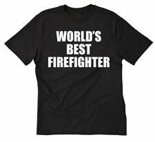World's Best Firefighter T-shirt Funny Fire Fireman Firefighter Tee Shirt S-5X