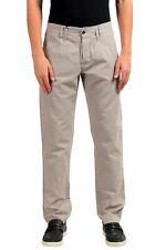 NUOVO $980 DOLCE /& GABBANA Pantaloni Bianco Nero a Righe Lino Casual S IT46//W32