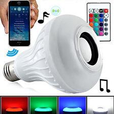 Wireless Bluetooth Speaker Bulb Light 12W LED E27 Smart Music Play Lamp Remote