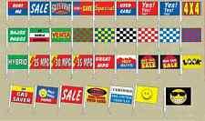 Car Dealer Window Clip On Flags, (12 Pack), Auto Dealer Window Flags