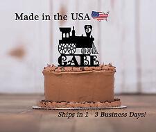 Train Cake Topper, Personalized, Boys Party, Choo Choo, Birthday Keepsake-LT1181