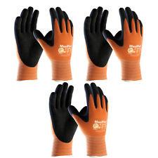 3 Pack MaxiFlex® Ultimate® 34-8014 HI-VIS Orange Nitrile Grip Gloves Sizes S-XXL